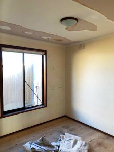finish the ceiling with 2 coats ceiling flat